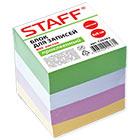 Блок для записей 80х80х80 мм цветной проклеенный Staff кубик